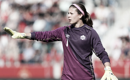 Stephanie Labbe made several fine saves to preserve the win for Washington (Source: Getty - Matthias Kern)