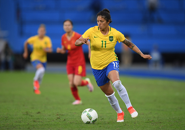 Cristiane capped off a strong performance with a last-minute goal (credit: Stephen McCarthy/Getty)