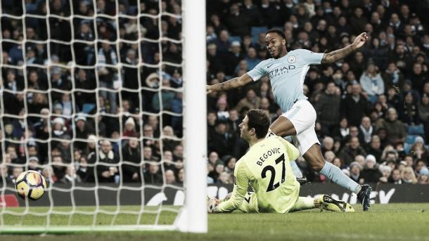 Sterling anotó uno de los goles frente al Bournemouth. Foto: Sitio oficial de la Premier League.