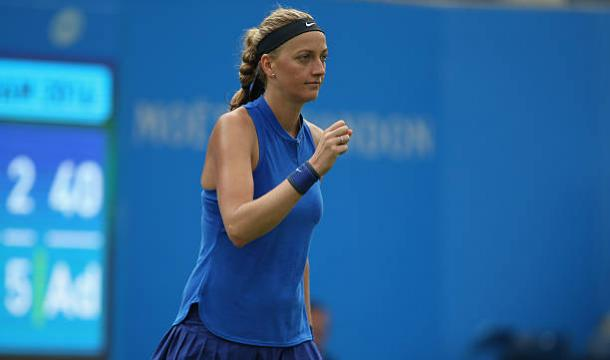 Petra Kvitova in action at the Aegon Classic in Birmingham last year (Getty/Steve Bardens)