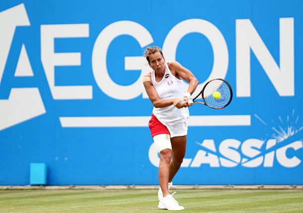 Barbora Strycova in action during the Aegon Classic final last year (Getty/Steve Bardens)