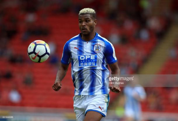 New signing Steve Mounié in pre-season actions