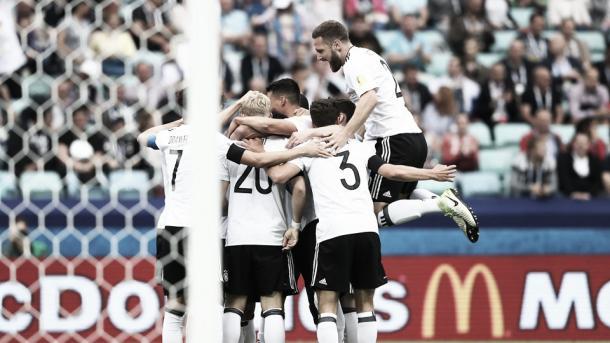 Comemoração do primeiro gol alemão (Foto: (Foto de Alexander Hassenstein / Bongarts / Getty Images)
