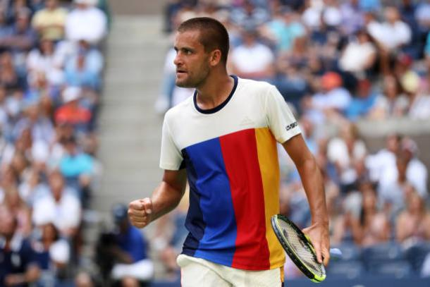 Youzhny struggled physically towards the end after two strong sets (Getty/Matthew Stockman)