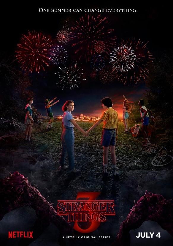 Cartel promocional de Stranger Things 3. Fuente: Netflix US