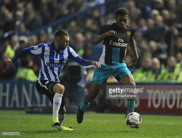 Iwobi made his first competitive appearance for the club against Sheffield Wednesday in the League Cup. Photo: Getty Images: Stuart MacFarlane