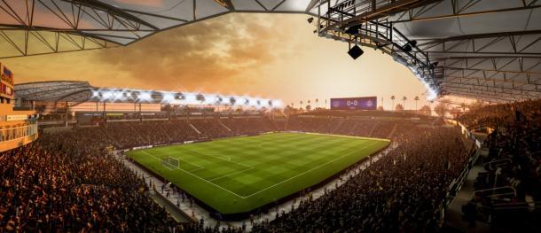 Recreación virtual del Stubhub Center. Fuente: EA Sports