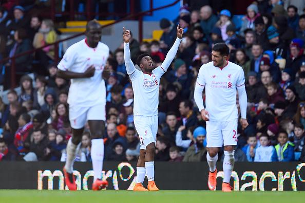 Daniel Sturridge celebrates his first goal since September. (Getty)