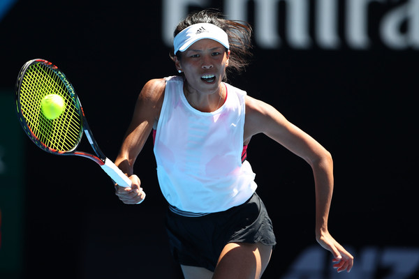Hsieh Su-wei in action during the match | Photo: Clive Brunskill/Getty Images AsiaPac