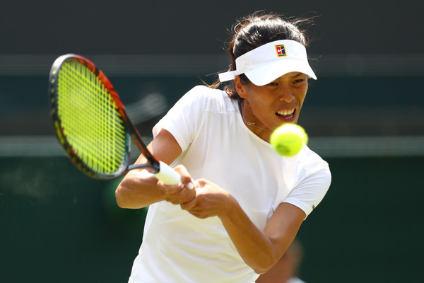 Hsieh Su-wei fought back to claim the second set 6-4 against the world number one | Photo: Michael Steele/Getty Images Europe