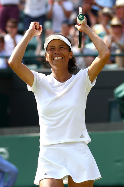 Hsieh Su-wei celebrates reaching the second week of Wimbledon | Photo: Michael Steele/Getty Images Europe