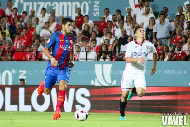 Suárez fue el autor del primer gol de los azulgranas. Imagen de archivo   Foto: Juan Ignacio Lechuga - VAVEL