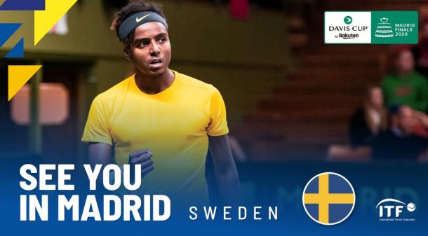 Suecia vuelve a las finales de la Copa Davis. Imagen: @DavisCupFinals.