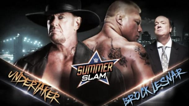 Lesnar's opponent last year was The Undertaker (image: youtube.com)