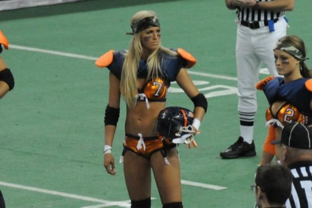 Summer Rae was a former lingerie football player (image: pinterest)