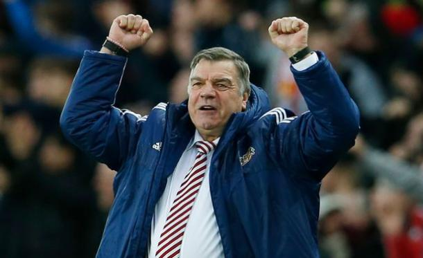 Big Sam celebrating a 1-1 draw against Bournmouth | Photo source: Mirror