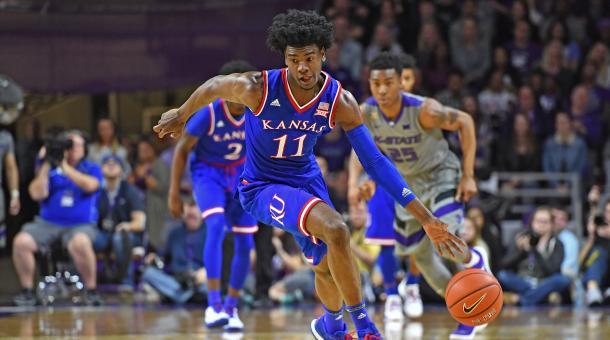 Josh Jackson y su breve paso de un año por la NCAA con Kansas. | Foto: SI