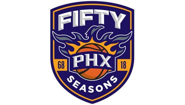 Logo conmemorativo de las 50 temporadas de los Suns. | Fuente: NBA