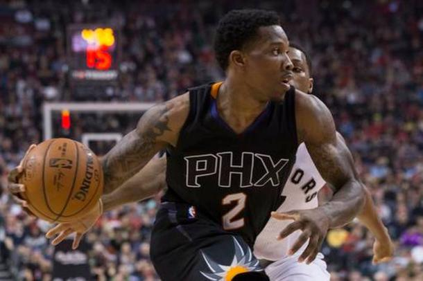 Suns' Eric Bledsoe had himself a career-night against the Raptors as he scored 40 points, handing the Raptors their third straight loss. Photo: The Canadian Press via AP Chris Young