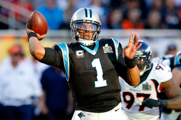 Carolina Panthers quarterback Cam Newton (#1) is ready to move on from the Super Bowl loss and focus on a new season.  Photo:   Kevin C. Cox/Getty Images North America