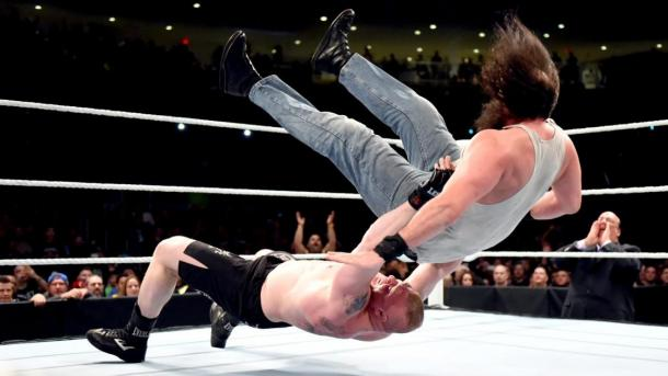 Harper gets a direct ticket to Suplex City. Photo- WWE.com