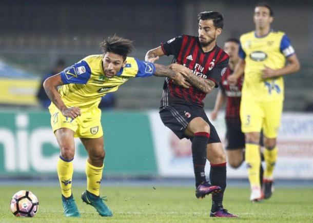 Suso contro il Chievo a Verona, calcioweb.eu