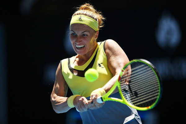 Svetlana Kuznetsova made a bright start to the encounter, taking the first set 6-4 | Photo: Jack Thomas/Getty Images AsiaPac