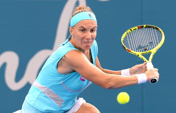 Svetlana Kuznetsova in action at the Brisbane International | Photo: Bradley Kanaris/Getty Images AsiaPac