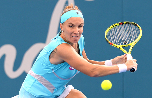 Svetlana Kuznetsova in action at the Brisbane International | Photo: Bradley Kanaris/Getty Images AsiaPac