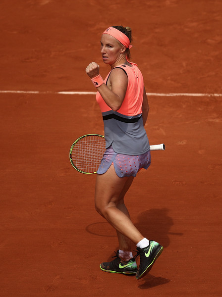 Svetlana Kuznetsova celebrates winning a point | Photo: Julian Finney/Getty Images Europe