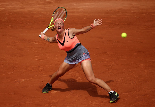 Svetlana Kuznetsova in action at the 2017 French Open | Photo: Julian Finney/Getty Images Europe