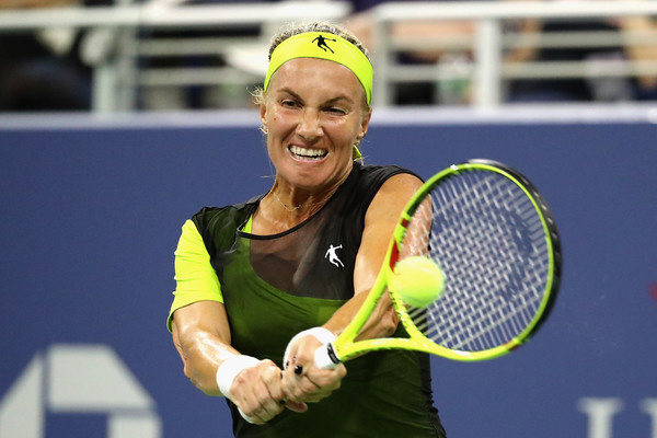 Svetlana Kuznetsova in action at the US Open, where she injured her left wrist | Photo: Abbie Parr/Getty Images North America