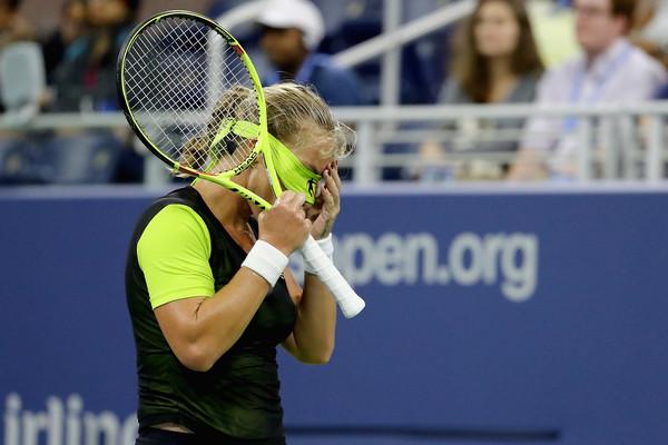 Svetlana Kuznetsova was full of frustration at the US Open because of her wrist injury   Photo: Abbie Parr/Getty Images North America
