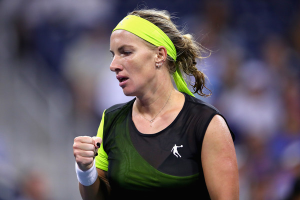 Svetlana Kuznetsova celebrates winning a point at the US Open | Photo: Clive Brunskill/Getty Images North America