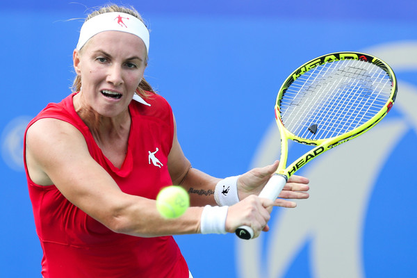 Kuznetsova in action at the Wuhan Open | Photo: Yifan Ding/Getty Images AsiaPac