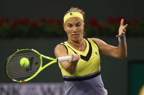 Svetlana Kuznetsova in her win over Pliskova at the BNP Paribas Open | Photo: Clive Brunskill/Getty Images North America