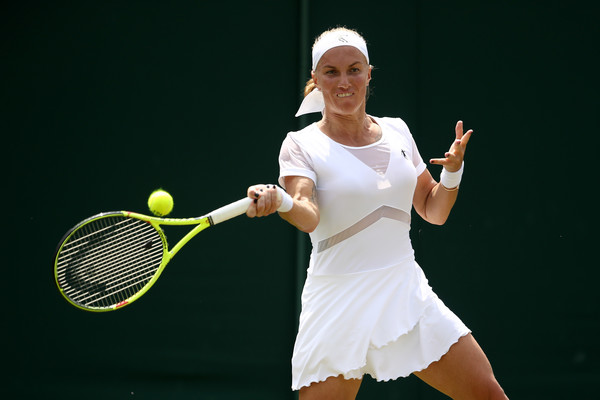Svetlana Kuznetsova in action during the match | Photo: Julian Finney/Getty Images Europe