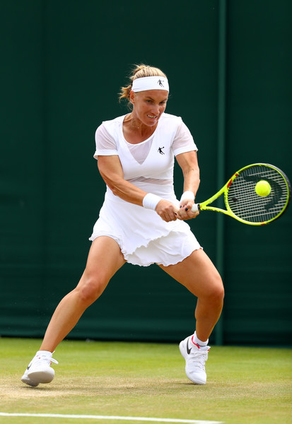 Svetlana Kuznetsova in action during the match | Photo: Michael Steele/Getty Images Europe