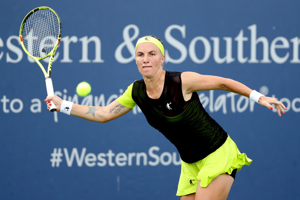Svetlana Kuznetsova in action | Photo: Matthew Stockman/Getty Images North America