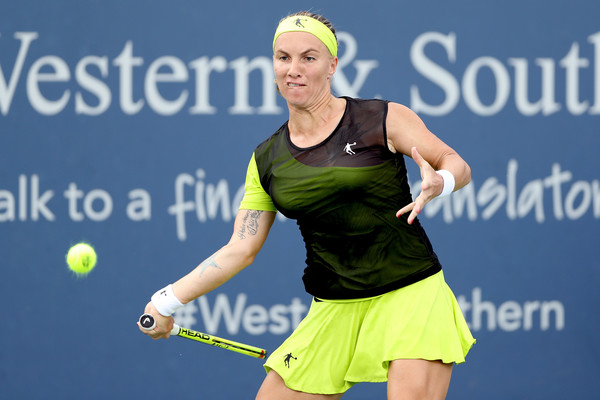 Svetlana Kuznetsova found her groove too late in the match, with her slow start eventually proving crucial | Photo: Matthew Stockman/Getty Images North America