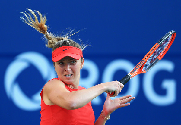Svitolina follows through on a forehand in Toronto. Photo: Vaughn Ridley/Getty Images