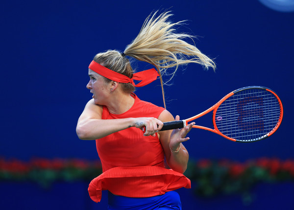 Svitolina unloads on a forehand. Photo: Vaughn Ridley/Getty Images