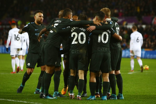 El City celebra el gol que abría la lata. Foto: Getty Images