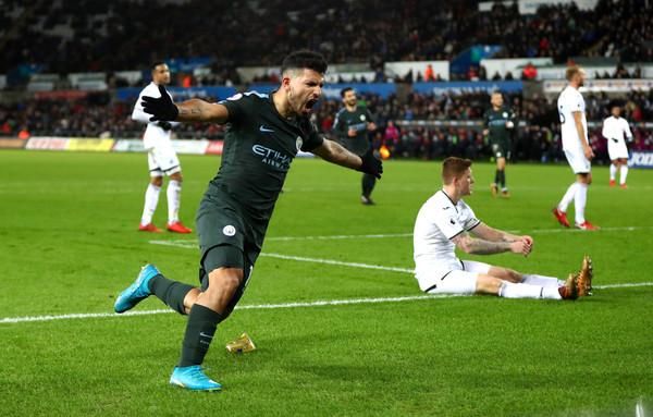 Agüero celebra su gol. Foto: Getty Images