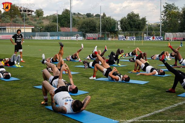 Allenamento Benevento - Fonte: beneventocalcio.com