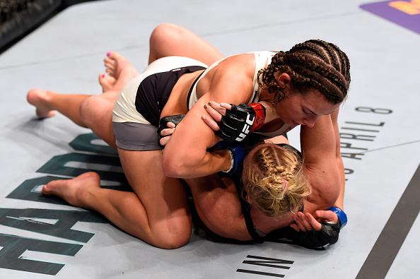 Tate almost had it!   Photo: UFC