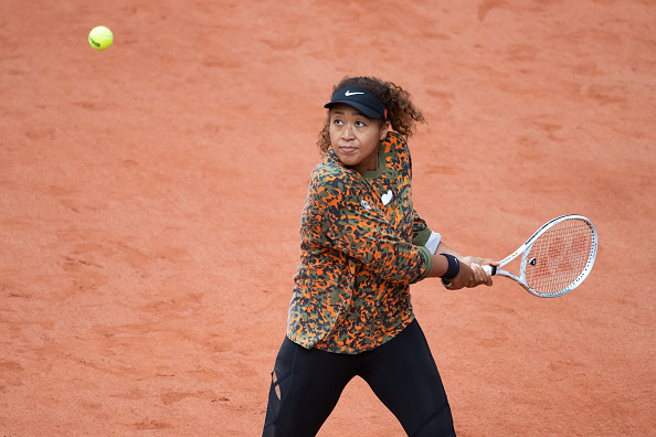 Naomi Osaka practicing ahead of Roland Garros (Image: Tim Clayton via Getty)