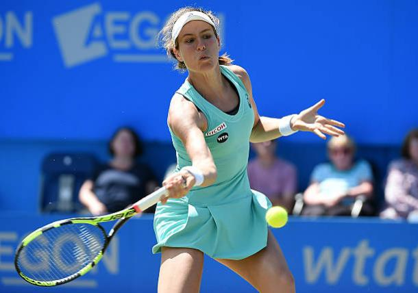 Johanna Konta in action at the Aegon International last year (Getty/Tom Dulat)