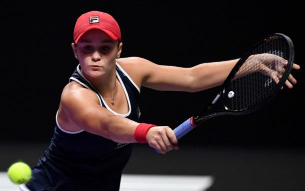 Barty hit back to take the second set/Photo: AFP