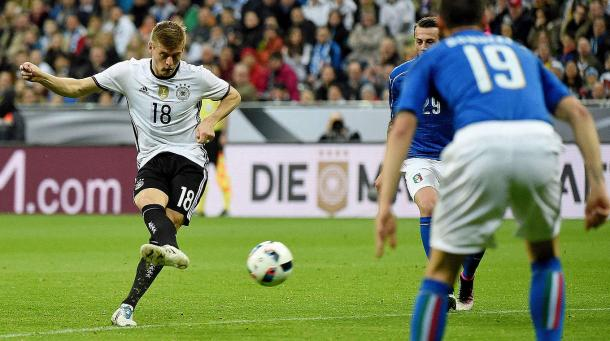 Kroos opened the scoring when the two sides met back in March. | Image credit: DFB.de